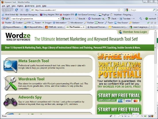 Wordze Keyword research tool