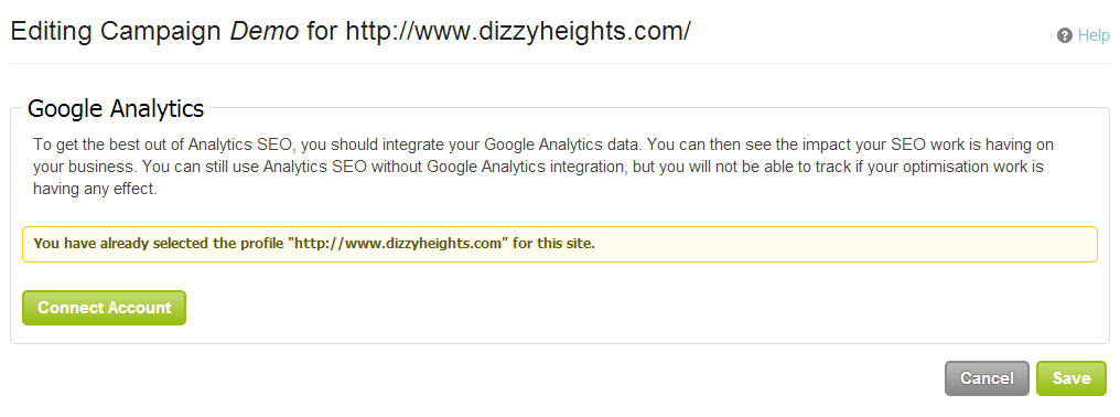 configure Google Analytics