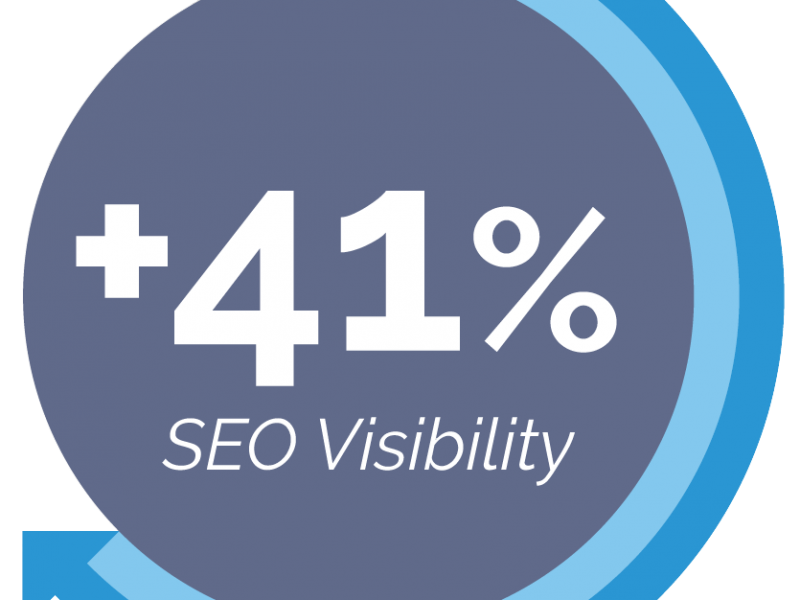 PriceMinister's 41% increase in Organic Search Visibility