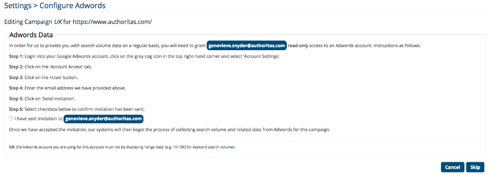 AdWords Instructions