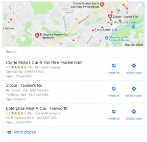 car_hire_twickenham_places