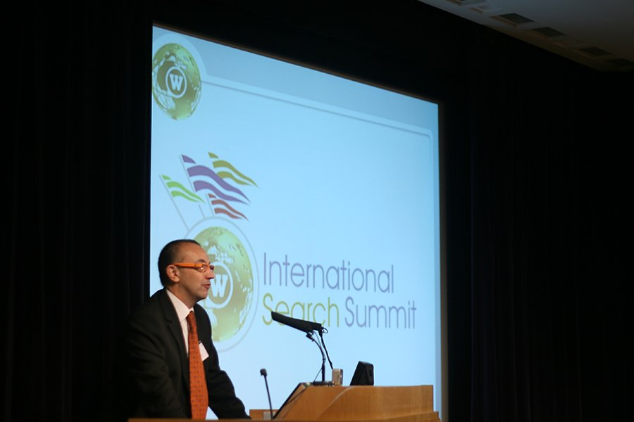 CEO and Founder of Webcertain, Andy Atkins-Krueger speaking at International Search Summit