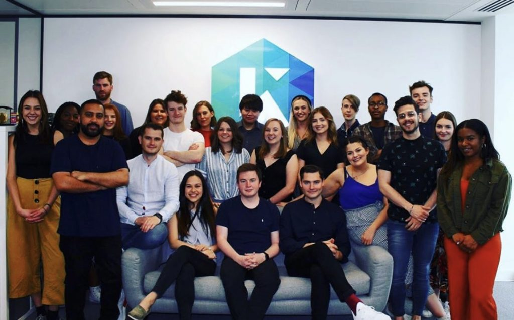 The Kaizen team in 2019. The Digital PR agency has grown since Pete set up the company.