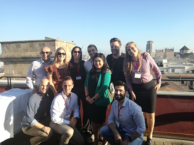 Some of the Webcertain team in a previous International Search Summit Barcelona event.