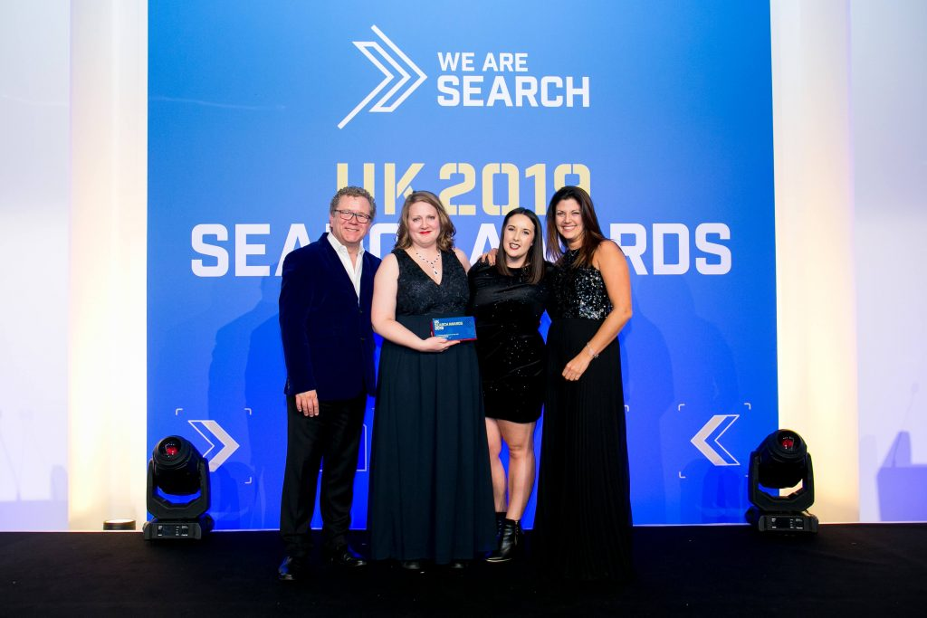 UK Search Awards Winner 2019